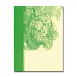 Kartonkarte Weinlese grün,...