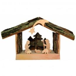 Krippe Holz 19x11cm