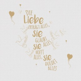"""Spruchserviette """"Die Liebe""""..."""
