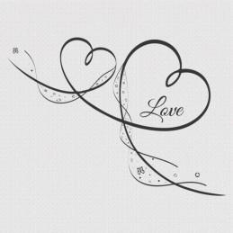 """Spruchserviette """"Love"""" schwarz"""
