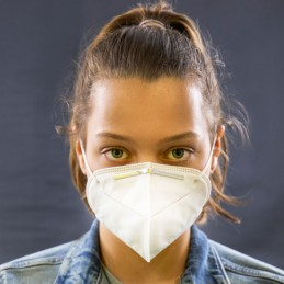 Hygiene-Maske / Mund- und Nasenmaske KN 95 entspricht FFP-2, FFP2,  6-lagig, mit Ohrschlaufen