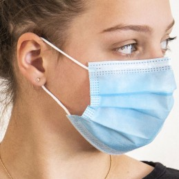 Hygiene-Maske / Mund- und Nasenmaske, 3-lagig, mit Ohrschlaufen