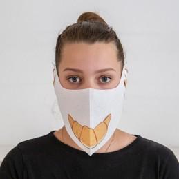 Behelfs- Mund- und Nasenmaske Hanprotec WBF-1 (Einweg), Bäckereimotiv