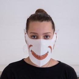 Behelfs- Mund- und Nasenmaske / Alltagsmaske Hanprotec WBF-1 (Einweg), Fleischereimotiv