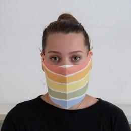 Behelfs- Mund- und Nasenmaske / Alltagsmaske Hanprotec WBF-1 (Einweg), Rainbow