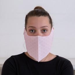 Behelfs- Mund- und Nasenmaske / Alltagsmaske Hanprotec WBF-1 (Einweg), Square rosa