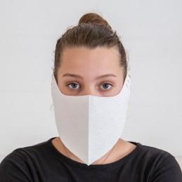 Behelfs- Mund- und Nasenmaske / Alltagsmaske Hanprotec WBF-1 (Einweg), Dreams weiß