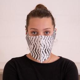 Behelfs- Mund- und Nasenmaske / Alltagsmaske Hanprotec WBF-1 (Einweg), Celebration schwarz