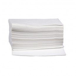 Toilettenpapier-Tücher 24x40cm, Zellstoff 2-lagig, weiß