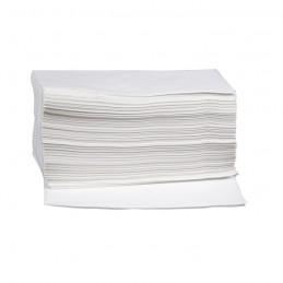 Toilettenpapier-Tücher 24x40cm, Zellstoff 3-lagig, weiß