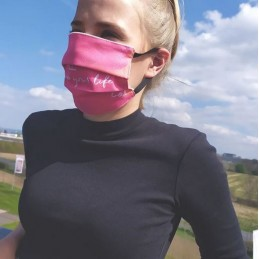 "Scavy&Ray Community-Maske, Hygienemaske, Mund-und Nasenmaske Pink, ""Color up your life"", 100% Polyester"