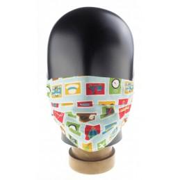Kinder-, Community-Maske / Mund- und Nasenmaske, Urlaubsmotiv, WASCHBAR und WIEDERVERWENDBAR