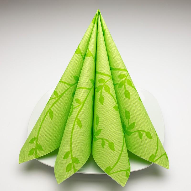Airlaid Hantessa Serviette 40 x 40 cm, Fino Toskana grün