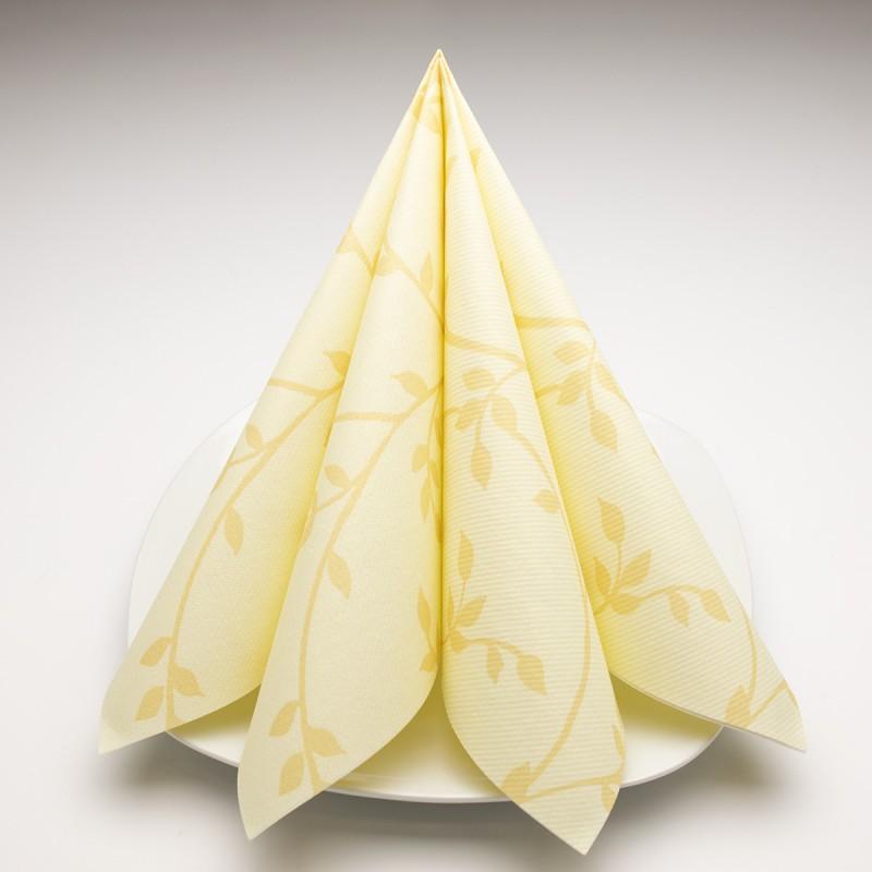 Airlaid Hantessa Serviette 40 x 40 cm, Fino Toskana creme
