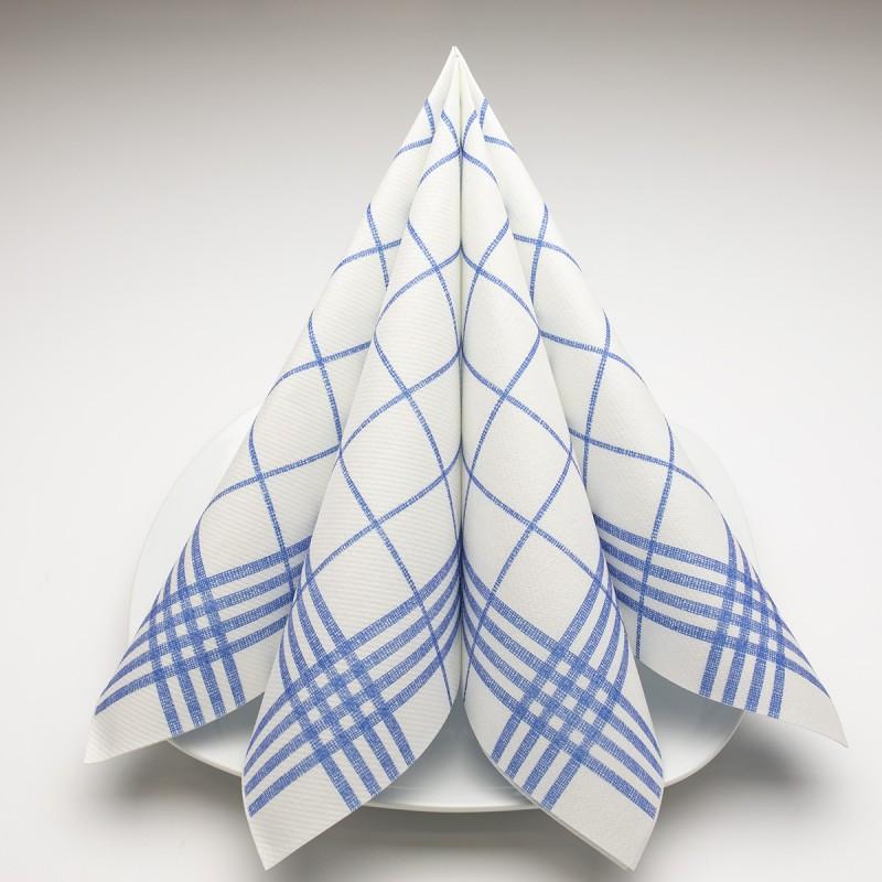 Airlaid Hantessa Serviette 40 x 40 cm, Cuisine blau