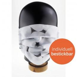 Community-Maske / Mund- und Nasenmaske aus Polyester, flüssigkeitsabweisend, handgenäht, Stone, WASCHBAR & WIEDERVERWENDBAR