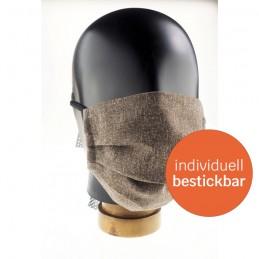 Community-Maske / Mund- und Nasenmaske aus Polyester, handgenäht, Marone, WASCHBAR & WIEDERVERWENDBAR