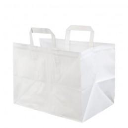 Bio Papiertragetasche braun aus 70g/m² Kraftpapier, 32x22x25cm