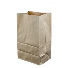 Bio Blockbodenbeutel braun aus 70g/m² Kraftpapier, 18x14x30cm