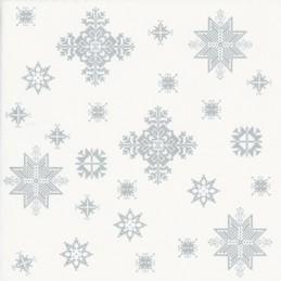 Tissue Hanklusiv Serviette Frozen 40 x 40 cm, silber