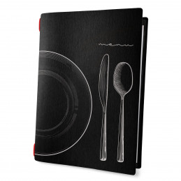 Speisekarte ECO Menu black SET