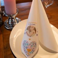 Servietten gestalten ab 25 Stück für Hochzeit, Taufe, Kommunion, Geburtstag